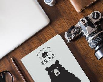 Notebook | Pocket Notebook | Gift | Notepad | Sketch | Drawing | Journal | Planner | Bear | Beer | Animal