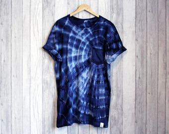 TyreDyes Tie Dye Pocket Tee Navy/Blue