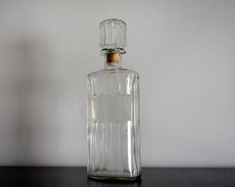 Vintage Owens Illinois Liquor Decanter with Cork