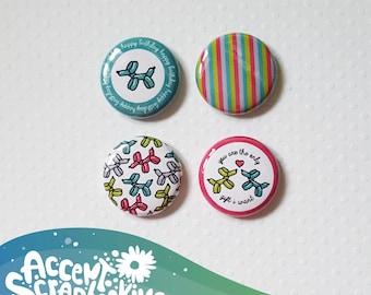 "Badge 1"" - Happy Birthday (Design by KareenBH)"
