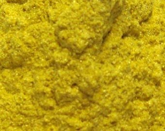 1 oz Yellow Mica Shimmer Pigment Cosmetic Powder For Slime Soap Making Mineral Make Up Powder Craft Neon Yellow Gold 15g Colorants Nail Art