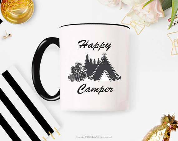 Camping Mug, Campfire Mug, Coffee, Happy Camper Mug, Adventure Awaits Mug, Coffee Mug, Happy Camper, Adventure Awaits Coffee Mug 40FM