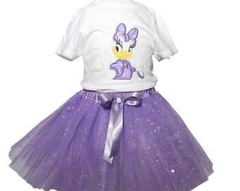 Daisy Duck Tutu Birthday Tutu Outfit Girl Daisy tutu outfit  baby tutu outfit Daisy girl Tutu outfits Girl Birthday tutu toddler tutu
