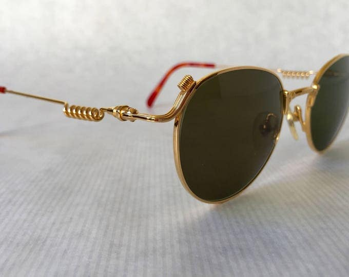 Jean Paul GAULTIER 55 - 5105 18K Gold Vintage Sunglasses New Old Stock including Case