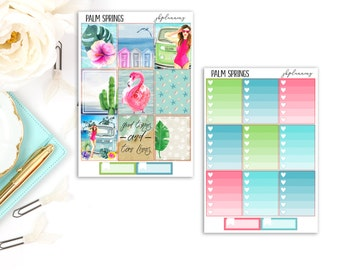 Palm Springs | Summer Planner Sticker Deluxe Kit