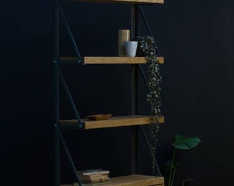 KONK! Wall Mounted Oak Cupboard Bookcase shelving INDUSTRIAL [Bespoke sizes!] Rustic Vintage Reclaimed
