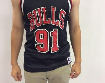90s Throwback Dennis Rodman Chicago Bulls Champion Jersey