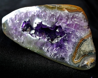 POLISHED AMETHYST GEODE - High Grade