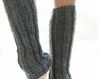 Grey Leg Warmers for Women – Slouchy Leg Warmers - Knit Leg Warmers Womens - Adult Leg Warmers – Women's Legwarmers – Yoga Lovers Gift