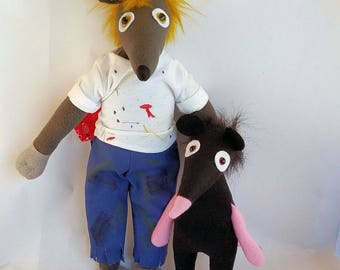 You Dirty Rat, Stuffed rat, Stuffed mouse, Stuffed animal, Rat plush, Mouse plush, Rat toy, Kids toy, Mouse plush, handmade toy,