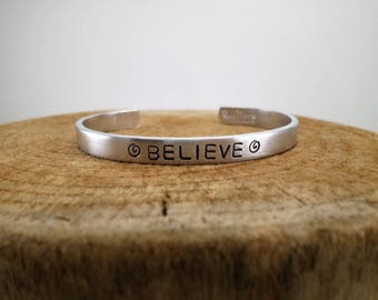 Believe - Hand-Stamped Bangle