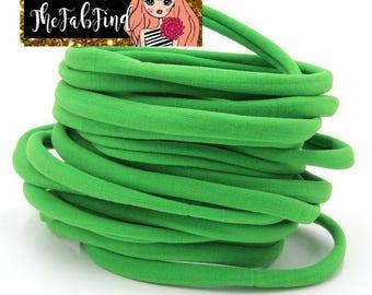 Lime Nylon Headband | One Size Fits All Headband | THIN Soft Nylon Headband for baby and adults| Premium Infant & Baby Headbands | BULK