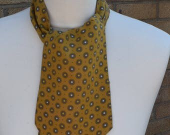 Tootal 1960's Mustard and Grey Cravat