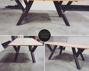 2x pieds de table lindustrie contemporain metal legs dinning table pied de banc table - Pied Pour Table Basse