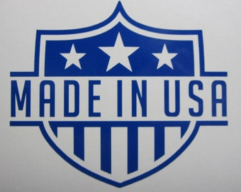 Made In USA Vinyl Decal / Sticker *Available in 24 Colors* | America | American | Proud | United States of America