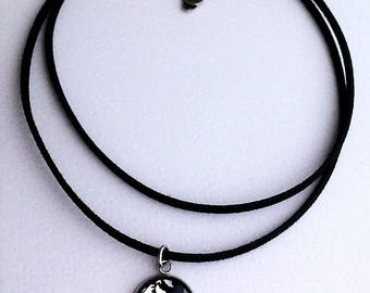 Necklace CHOCKER (chocker) black Josie D. double cords. Over 30 designs available