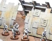 Star wars legion épave de vaisseau pour table de jeux de figurines miniatures