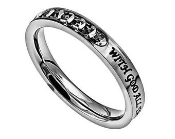 """Princess Ring """"All Things Are Possible"""""""