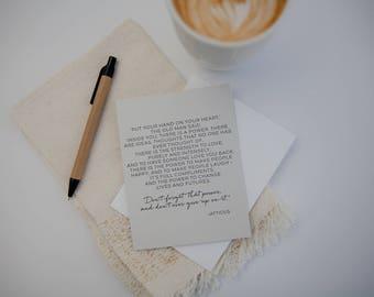 Inspiration Card   Atticus   Encouragement Card   Letterpress Card   You've Got This   Graduation   Sympathy  