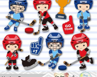 Digital Boys Hockey Clipart, Boy Hockey Digital Clip Art, Sport Clipart, Boys Sport Clip Art, Sport Boys Clipart, Hockey Clipart 0251
