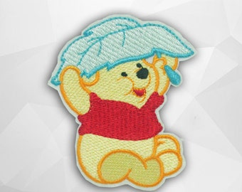 Winnie The Pooh Iron on Patch(M2)-Cartoon Bear, Cartoon Disney Applique Embroidered Iron on Patch-Size 6.8(W)x7.4(H)cm