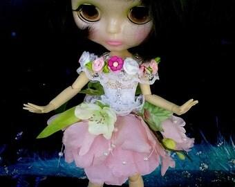 Blythe clothes, Blythe dress, Blythe outfit, Fairy Flowers, clothes Blythe, Blythe clothes,