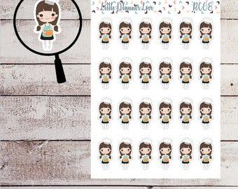 Cooking Character Planner Stickers for all Planners