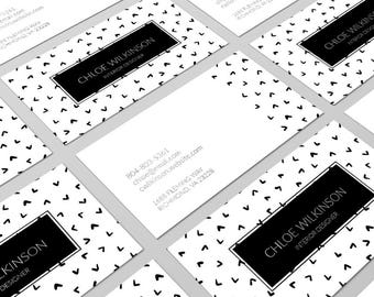 Black and White Business Card Design, Business Card Design, Modern Business Card, Card Template, Black and White, Calling Card, Branding