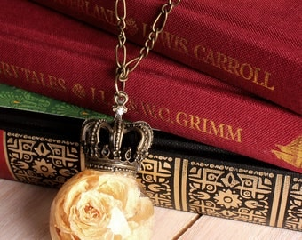 Rose Necklace Big Cream