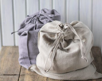 Linen laundry bag, Large laundry bag, Large home bag, Storage linen bag, Natural laundry bag, Reusable storage bag