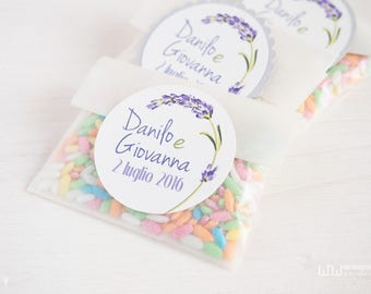 10 wedding paper bag_confetti_ Personalized _made in Italy
