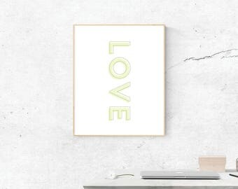Love, Digital Print, Love Art, Love Art, Digital Download, Love Wall Art, Wall Prints, Printable Art, Love Poster