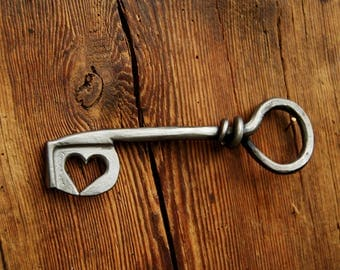 Key to my heart, hand forged key, hand forged wedding present,
