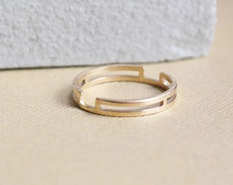 Gold Stack Ring, Solid Gold Ring, Dainty Ring, Gold Stacking Ring, Geometric Ring, Minimalistic Ring, 9ct Gold Ring, 9ct Gold, Wedding Ring