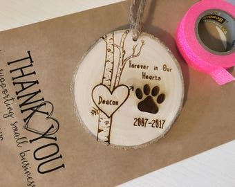 Pet Memorial Ornament, Dog Sympathy Gift, Loss of Pet Gift, Remembrance Ornament, Pet Owner Gifts, In Memory of Dog, Pet Christmas Ornaments