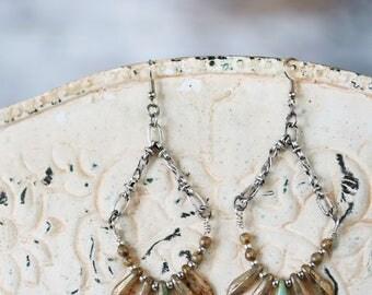 Hoop Earrings - Elegant Earrings for Her - Romantic Earrings - Dangle Earrings for Mom - Statement Earrings for Her - Gift for Her Under 30