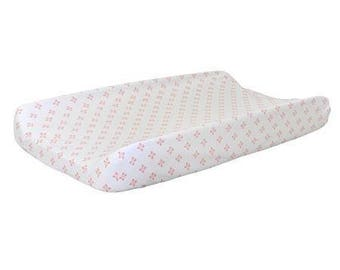 Changing Pad Cover | Harper in Coral