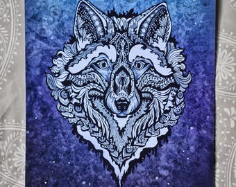 Azure Wolf (print)