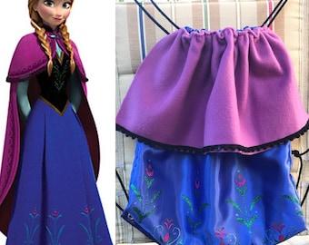 Disney's Frozen- Princess Anna Inspired Drawstring Bag