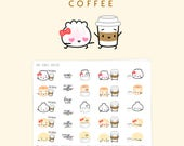 """Coffee Stickers - """"But First, Coffee"""" [Need Coffee Stickers, Coffee Lover Stickers, Coffee Stickers, Coffee Gift, Starbucks Stickers] - S048"""