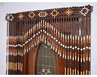 beaded curtains etsy. Black Bedroom Furniture Sets. Home Design Ideas