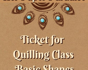 Quilling classes - Basic Shapes - For Colorado Springs Residents Only - This is NOT an online class