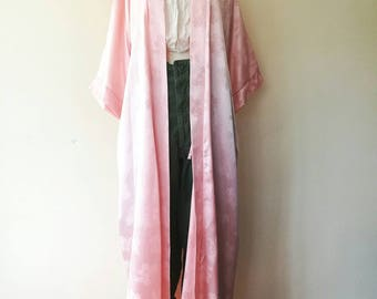 Vintage Christian Dior lounge wear pink robe gown