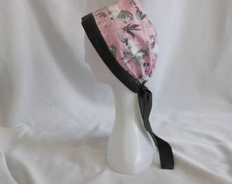 Pink & Charcoal Unicorns Surgical Scrub Cap Chemo Dental Hat