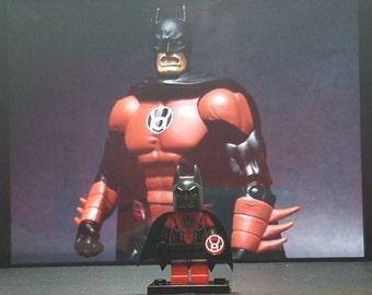 Red Lantern Batman Minifigure DC Comics Justice League Darkest Night Green Lantern (LEGO Compatible)