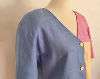 80s Oscar de la Renta Dress // Vintage Miss O Dress // Size L