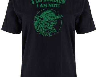 St Patrick's Day T-Shirt LEPRECHAUN I AM NOT Shamrock Men's Black T-Shirt, Paddy's Day T-Shirt, Shamrock T-Shirt, Irish T-Shirt