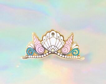 Mermaid Crown, Enamel Pin