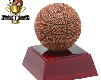 Color Basketball Resin Award - Basketball Trophy - Free Personalization