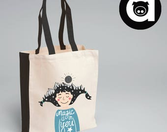 Tote Bag - Magic Is In You Tote Bag - Quote Tote Bag - Cotton Bag - Tote Bag - Natural Tote Bag - Gift Bag